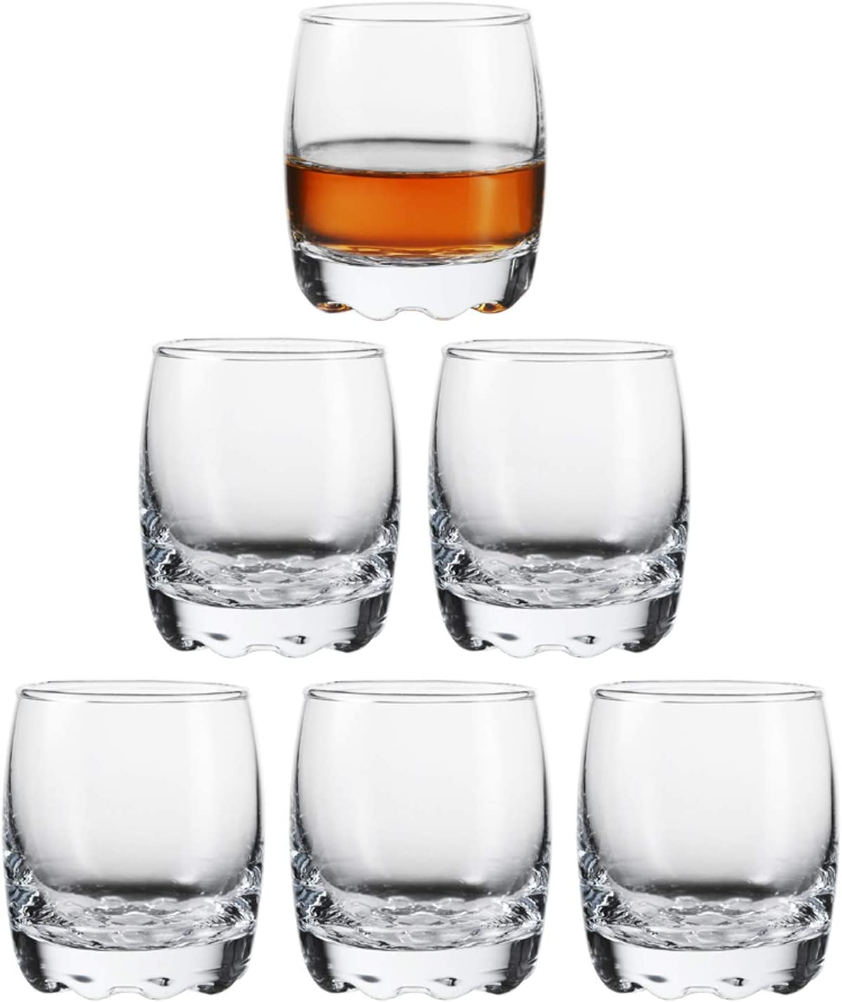 Desire Sky 6Pcs 1.2-Ounce Shot Glass Heavy Base Shot Glass Set Party Bar Whiskey Shot Glass