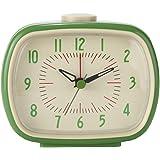 Lily's Home Quiet Non-ticking Silent Quartz Vintage/Retro Inspired Analog Alarm Clock (Green)