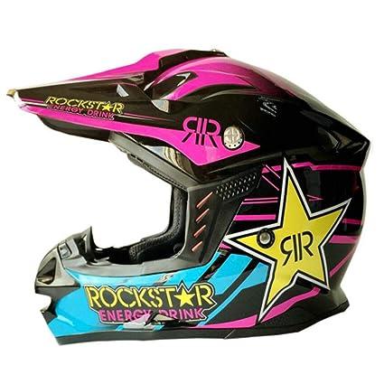 xrk Casco De Moto Anti Choques Casco De Moto De Carreras De Cara Completa con Visera