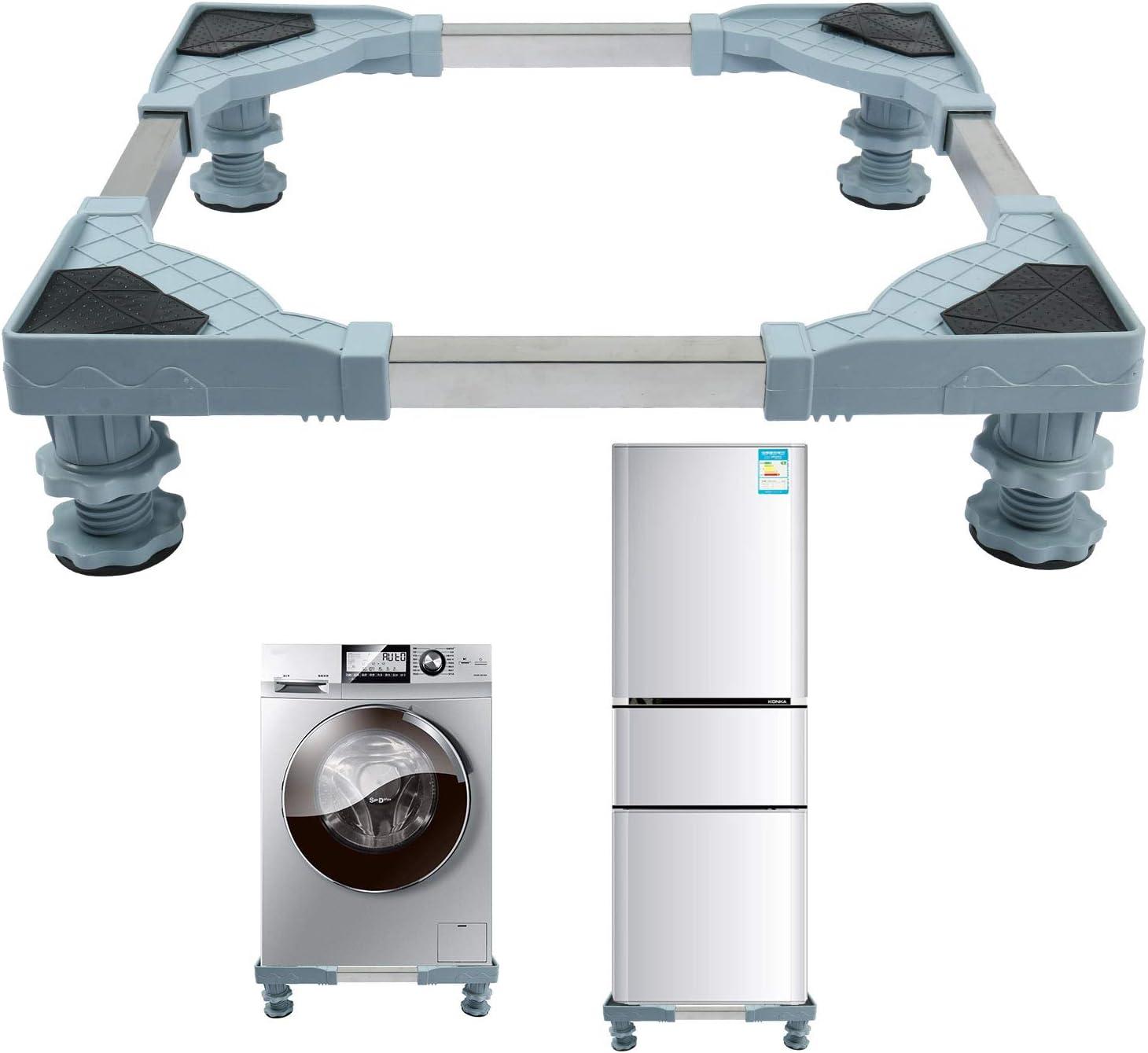 Washing Machine Base, Multi-Functional Heavy Duty 4 Feet Adjustable Base for Refrigerator and Dryer