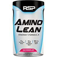 RSP AminoLean - All-in-One Pre Workout, Amino Energy, Weight Loss Supplement with Amino Acids, Complete Preworkout Energy & Natural Fat Burner for Men & Women, Watermelon, 70 Servings