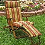 Blazing Needles Patio Steam Lounger Cushion in Print - Skyworks Multi