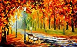 100% Hand Painted Oil Paintings on Canvas Contemporary Abstract Oil paintings Modern Wall Art Paintings Autumn Thick Decor (36X60 Inch, Decor 1)