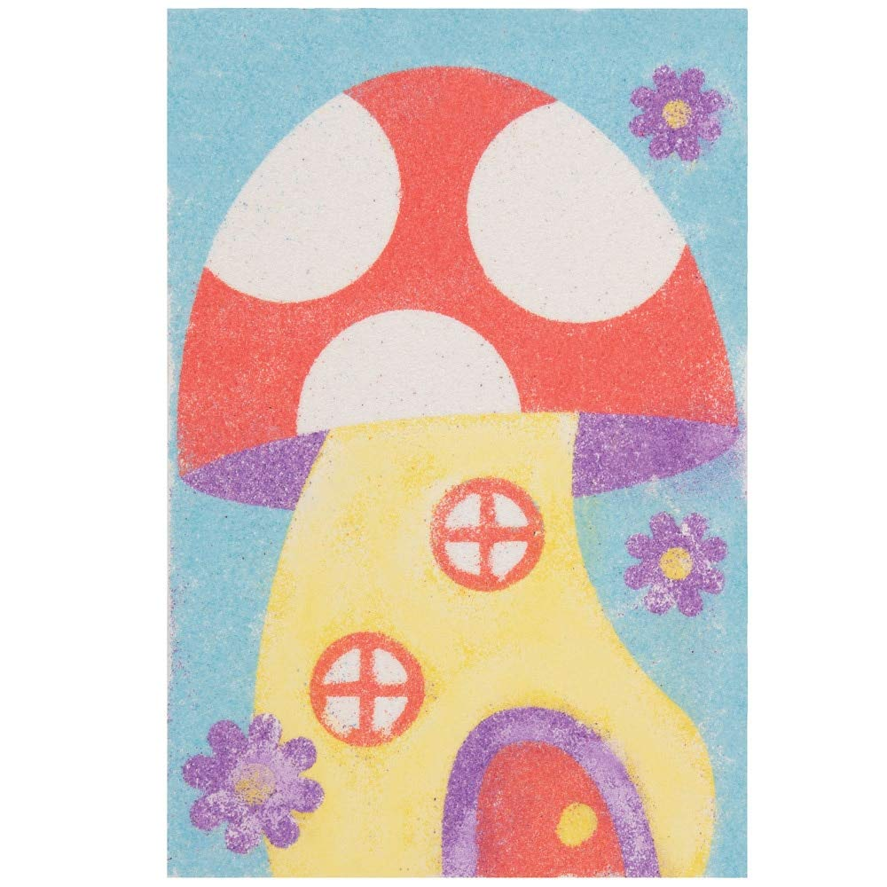 Self-adhesive Pre designed Images for Childrens Arts and Crafts Projects Pack of 8 Baker Ross AT851 Fairy Tales Sand Art Pictures