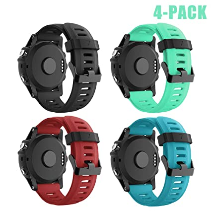 SUPORE Garmin Fenix 3 Correa de Reloj, reemplazo Respirable Suave del silicón Pulsera Hermosa Deporte y edición para Fenix 3/Fenix 3 HR/Fenix 5X ...