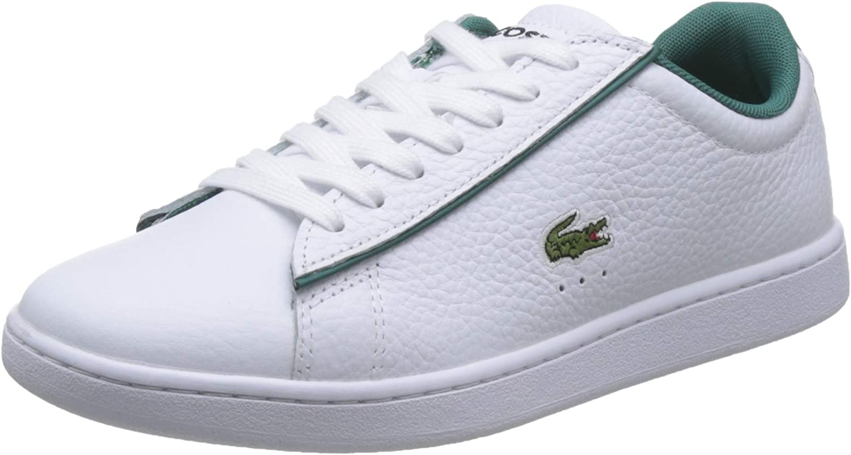 LACOSTE Carnaby EVO 120 2 SFA Zapatillas Moda Mujeres Blanco/Verde Zapatillas Bajas