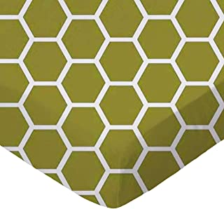 product image for SheetWorld Fitted Cradle Sheet - Sage Honeycomb - Made In USA