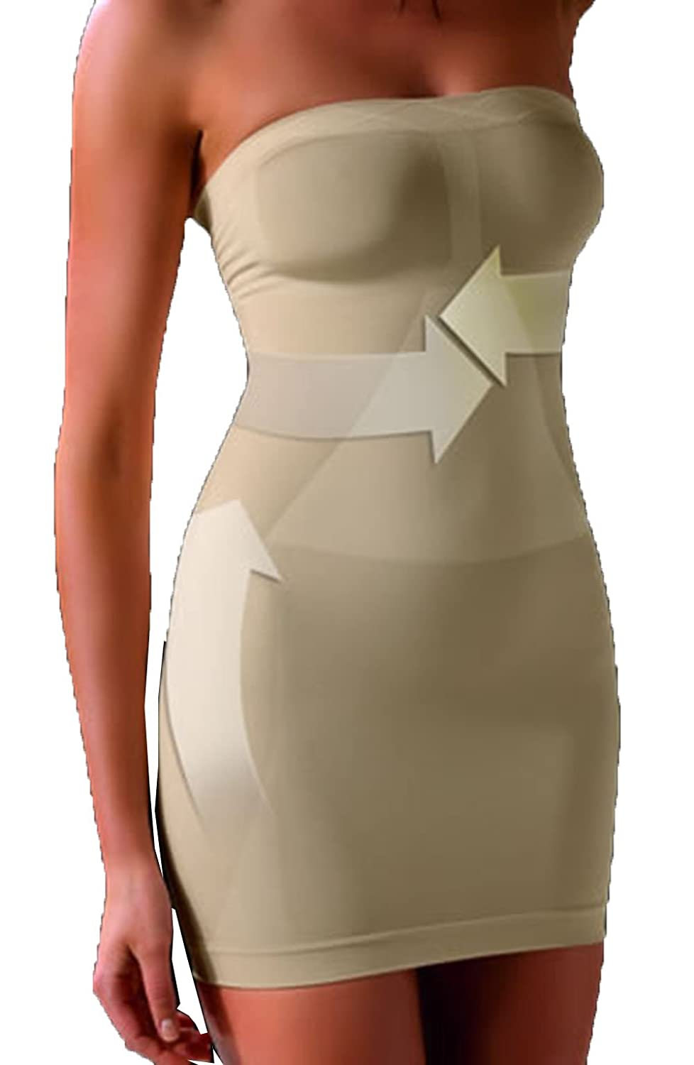 Control Body Shaping Strapless Dress
