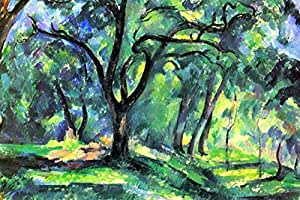 Paul Cezanne In the Woods Art Print by Paul Cézanne 24 x 36in