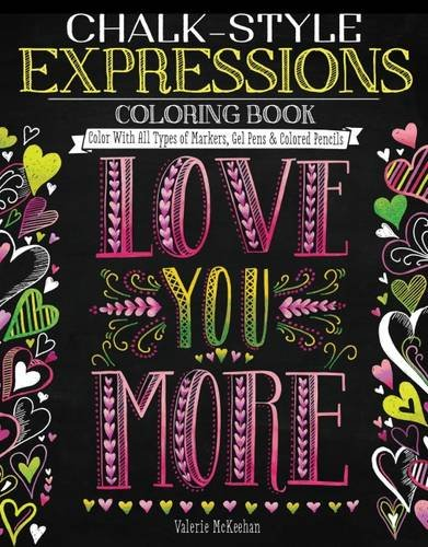 Chalk Style Expressions Coloring Book Markers product image