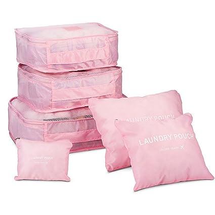 Zhuodia - Juego de 6 piezas de malla de nailon multifuncional impermeable para equipaje de viaje