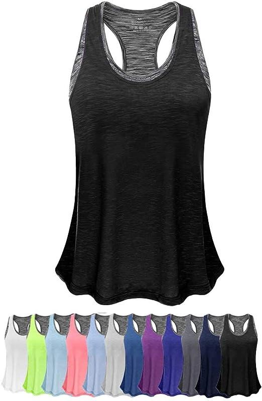 Amazon.com: FAFAIR Camisetas de yoga ligeras para mujer con ...