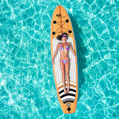 Kinelo 10′ Inflatable Stand up Paddle Board Surfboard SUP with Bag Adjustable Paddle Fin