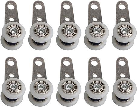 BQLZR Bloque de polea de metal con dos ruedas de plástico para ...
