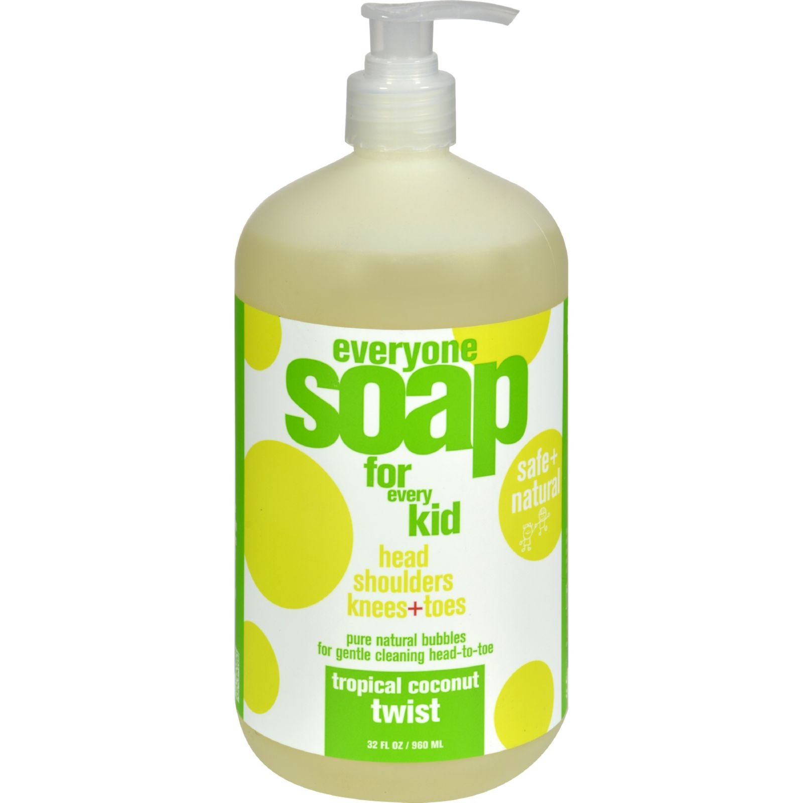 EO Products Everyone Soap for Kids - Tropical Coconut Twist - 32 oz (Pack of 4) by