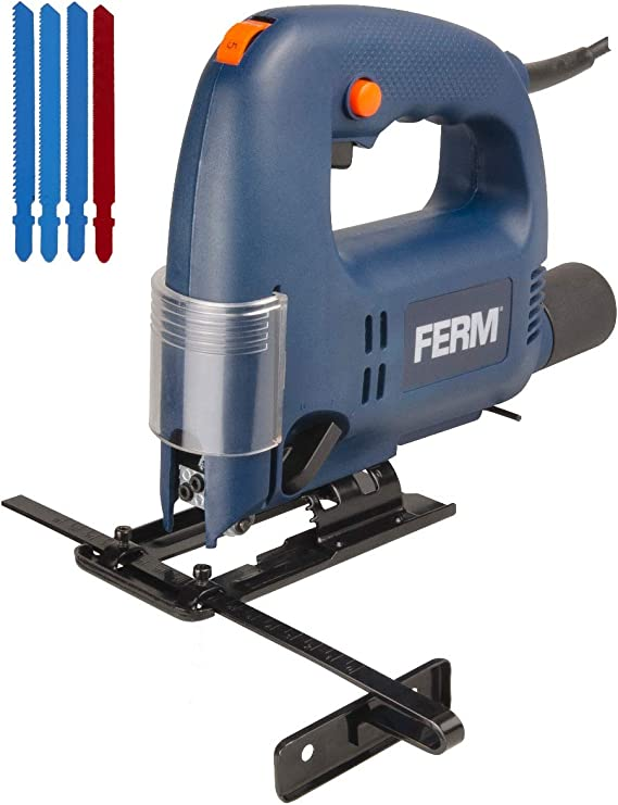 Sierra de calar 570W - 120V - Incl. 4x hojas de sierra, guía paralela y adaptador de aspirador: Amazon.es: Bricolaje y herramientas