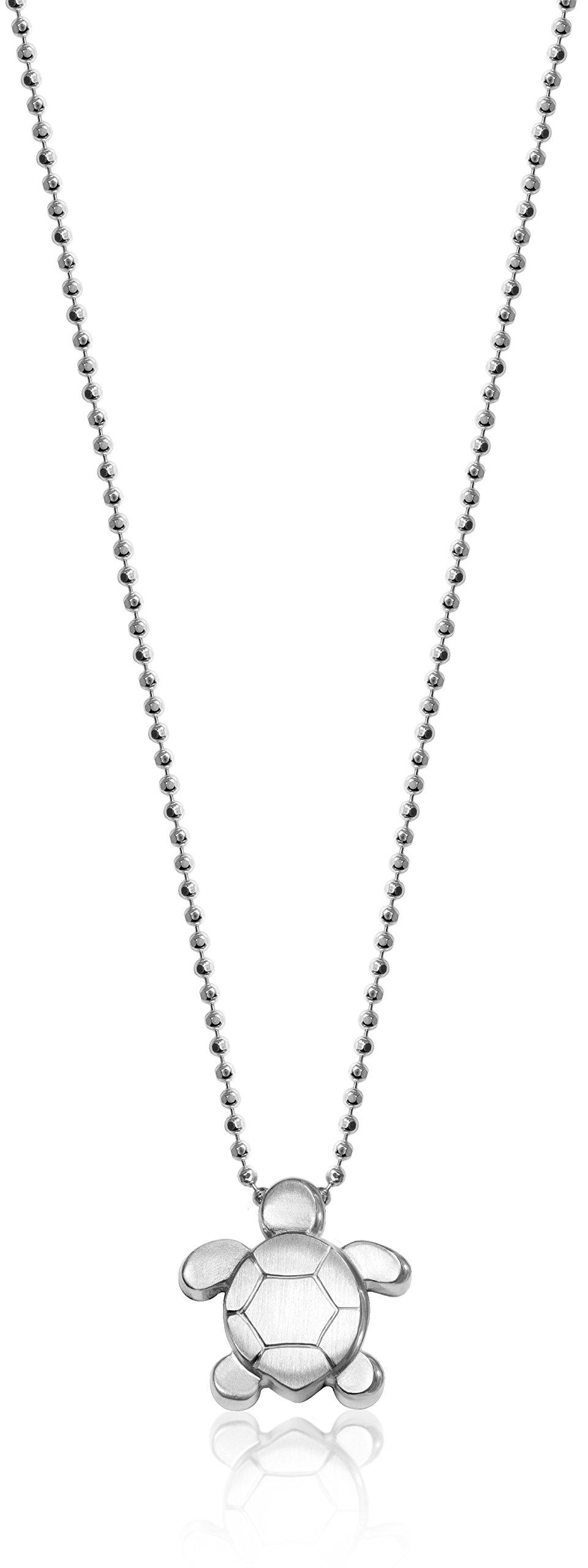 Alex Woo ''Little Seasons'' Sterling Silver Sea Turtle Pendant Necklace