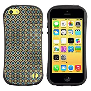 Travers-Diy FlareStar Colorful Printing cute flower Slim Fit protective case cover U1PLVqa4rhZ for Apple iPhone 5C