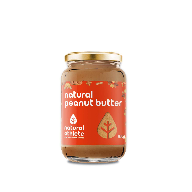 Crema de Cacahuete -Natural Athlete- 100% solo cacahuetes - 100% natural - vegano - sin gluten - sin lactosa -sin azúcar añadido. Pack 2x500gr