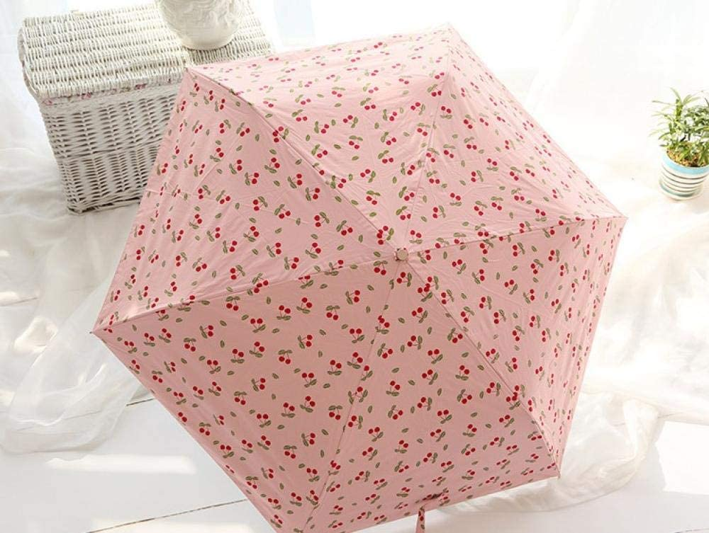 Portable/ umbrella Folded black plastic automatic umbrella tea flower three fold anti-UV umbrella sunscreen ultra light sun umbrella radiation/ protection,UV/ protection,rust/ prevention,wind/ protection.