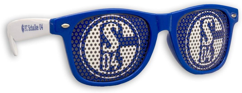 Fanbrille Brille S04 FC Schalke 04 Sonnenbrille weiss I love..
