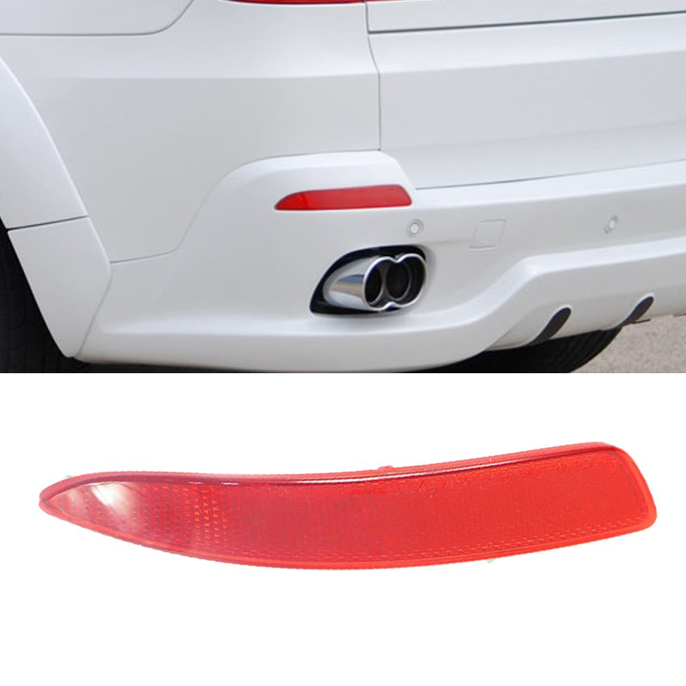 Ricoy Rear Right Bumper Cover Lens Lamp Reflector Housing Tail Warning Light For X5 E70//71 2007-2013