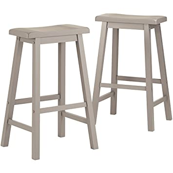 salvador saddle back bar height stool counter height 29inch dining set of 2