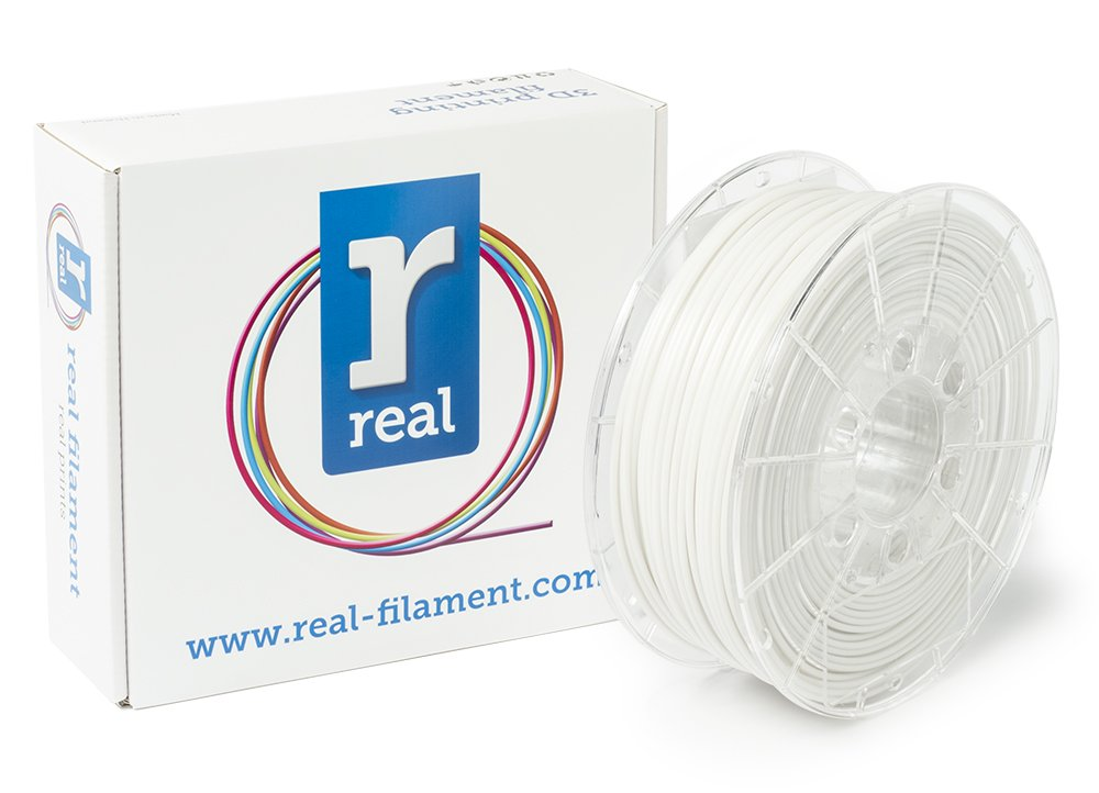 Real Filament 8719128327662 Real PETG, Spool of 1 kg, 2.85 mm, Opaque White NLPETGSWHITE1000MM300