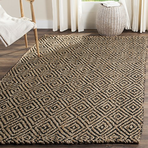 Natural/Black Safavieh Hand-woven Jute Area Rug 3' X 5'