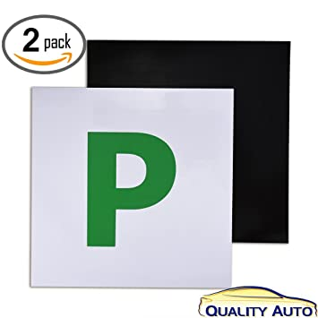 Fully magnetic p plates for new drivers ▻ 2 pack ▻ quality auto by vorfreude
