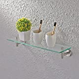 KES Bathroom Glass Shelf 1 Tier Shower Caddy Bath Basket Stainless Steel RUSTPROOF Wall Mount Brushed Finish, A2021-2