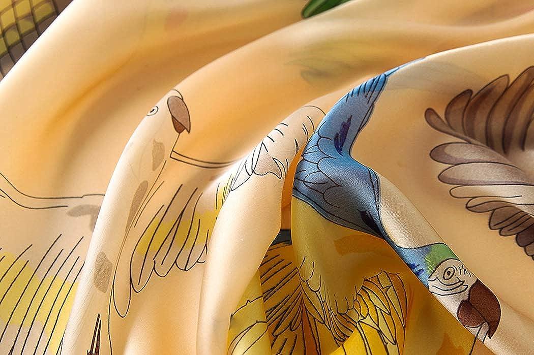 90 cm DEBAIJIA Mujeres Seda Bufanda Chales Ligeros Elegantes Envolturas Pa/ñuelo Suave Alta Calidad Moda Bufandas Elegantes Protecci/ón Solar Caminando al aire libre Oficina de la playa180
