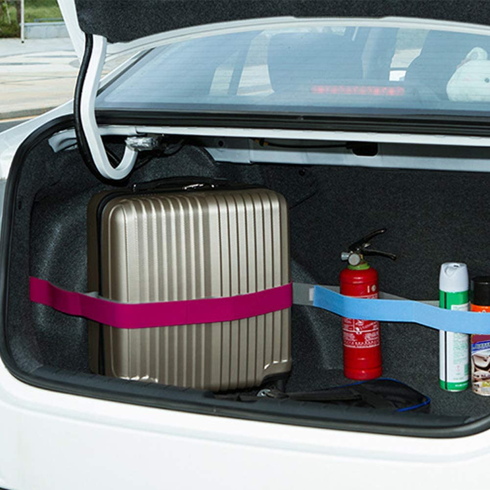 Car Trunk Storage Device Hook and Loop Fixed Straps Solid Color Magic Stickers Car Decoration Gift LUYANhapy9 Car Interior Accessories