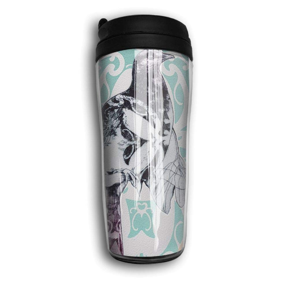 Woodpecker Art Pattern Travel Mug Coffee Thermos Stainless Steel Flask Water Bottle