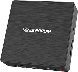 Mini PC Quad-Core Intel Pentium Processor J3170 (up to 2.64GHz) 4G DDR3/128GB SSD Windows 10 Pro HDMI/VGA Dual Display with Cooling System 4X USB Ports BT4.2 Dual WiFi