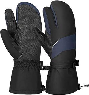 Vbiger Skihandschuhe Schnee Handschuhe Warm Winter Handschuhe Wasserdicht Winddicht Tough Baumwolle Schicht passt für Herren und Damen
