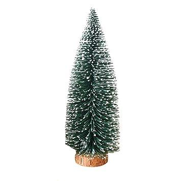 3a011c95c71 Tinksky - Mini árbol de pino de Navidad con base de madera esmerilado para  decoración de Navidad
