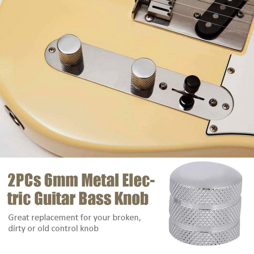 Dilwe Metal Guitarra Bass Dome Knobs Potenciómetro Cap Perilla de Guitarra Perilla de Bajo Perilla de Volumen Perilla de Control de Guitarra: Amazon.es: ...