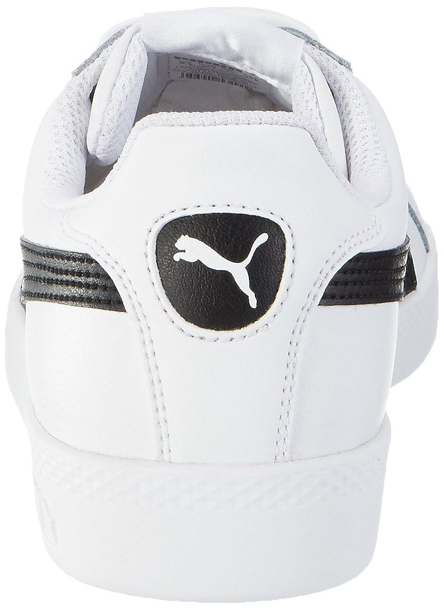 Amazon.com | PUMA Smash Leather, Womens Tennis, White (White/Black), 8 UK (42 EU) | Fashion Sneakers