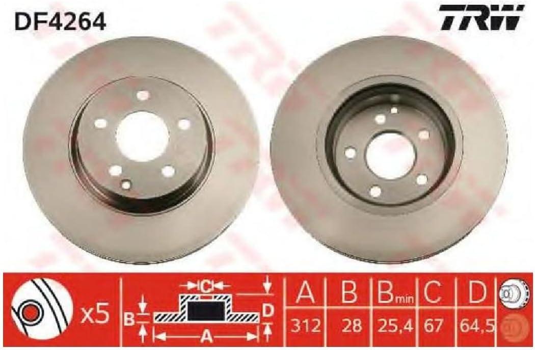 TRW DF4264 Rotores de Discos de Frenos