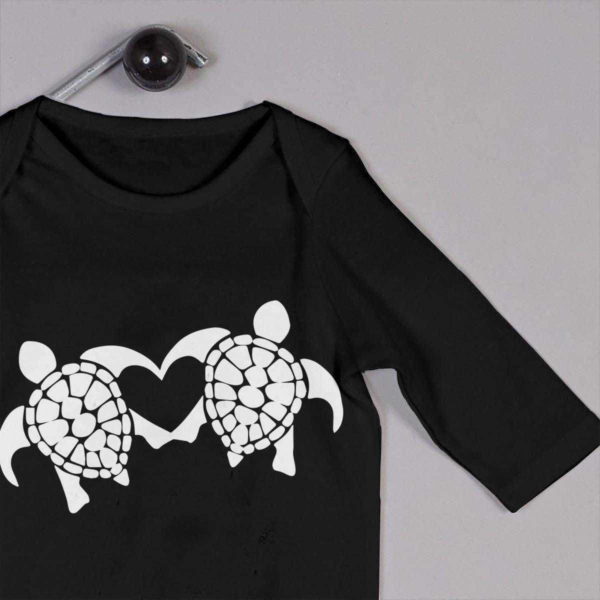 Heart-Turtles Baby Boy Girl Long Sleeve Romper Jumpsuit Jumpsuit Onsies