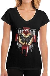 Kwtgsyhrt Women's in This Moment Rotten Apple Band Logo Tee Shirt Short Sleeve Tee Top T-Shirt M