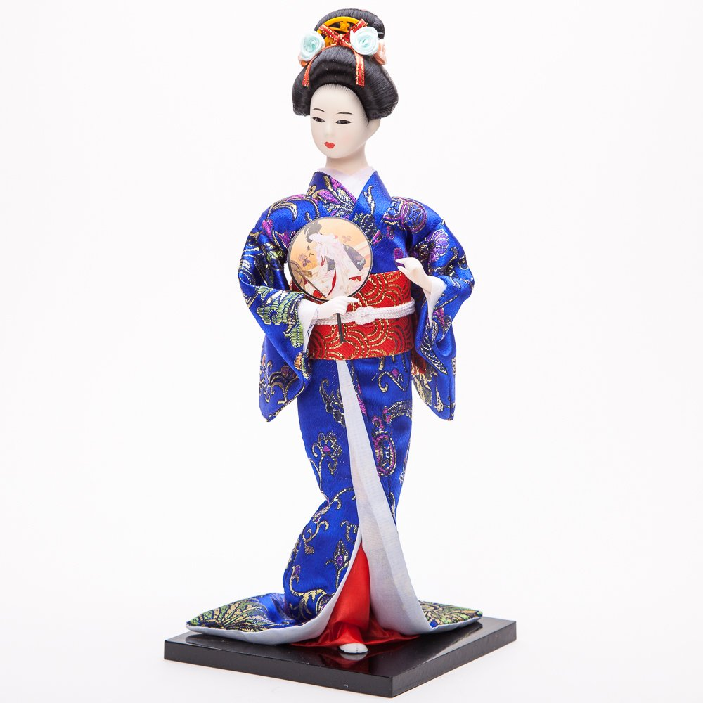 """12"""" Japanese GEISHA Oriental Doll ZS8033-12"" MZO"