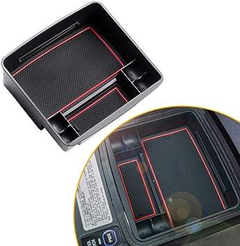 Car Center Console Organizer Tray for Toyota Prado 04-18 Armrest Secondary Storage Box Container with Refrigerator