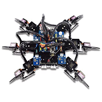 Adeept Hexapod 6-Legs Spider Robot Kit for Arduino UNO R3 and Nano | 2.4