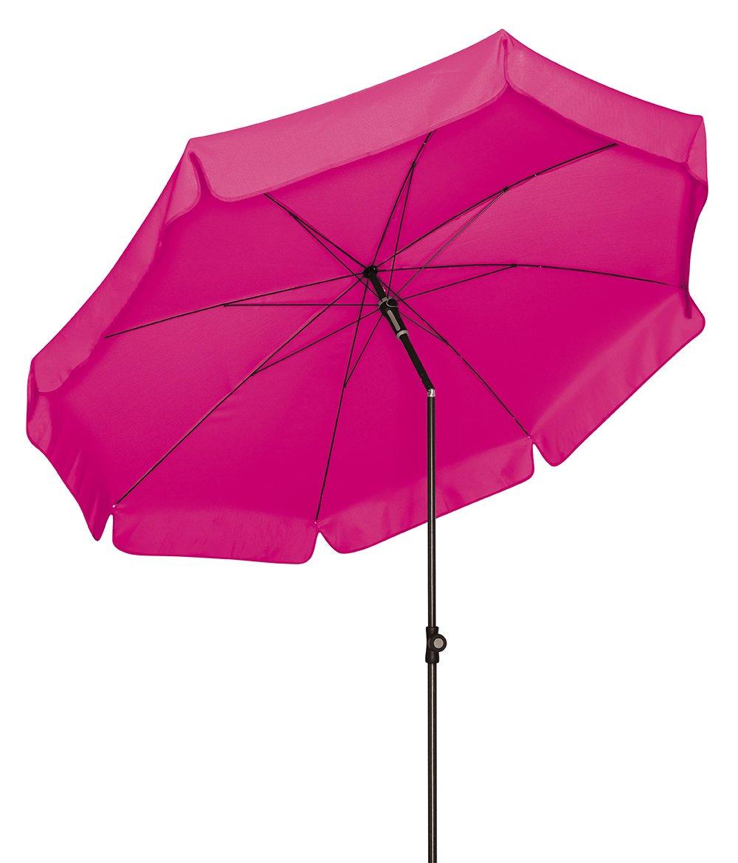 Doppler Absolut wetterfester Gartenschirm Sunline 250 Fuchsia, UV-Schutz 50 Plus und Knicker,