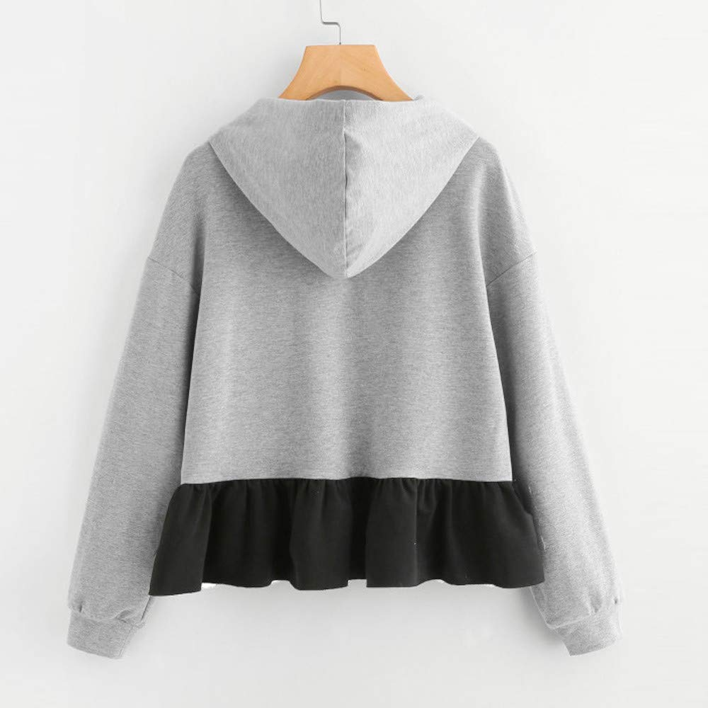 Amazon.com: Birdfly Fall Winter Women School Style Gray Pullover Top Patchwork Mini Black Skirt Young Girl School Dress: Clothing