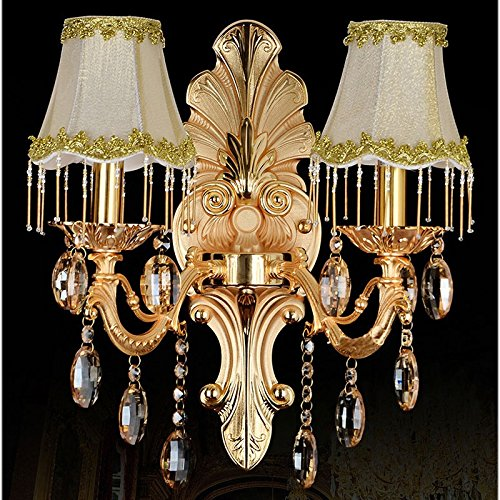 Pendant Lamp Dual (RLYYBE1 DIY Wall Light Creative Modern Rustic Industrial Vintage And Simple Led Crystal Walls Bedroom Living Room Outdoor Decorative Lamp Sconce Lighting Gold Pendants, luxury with dual head lamp hou)