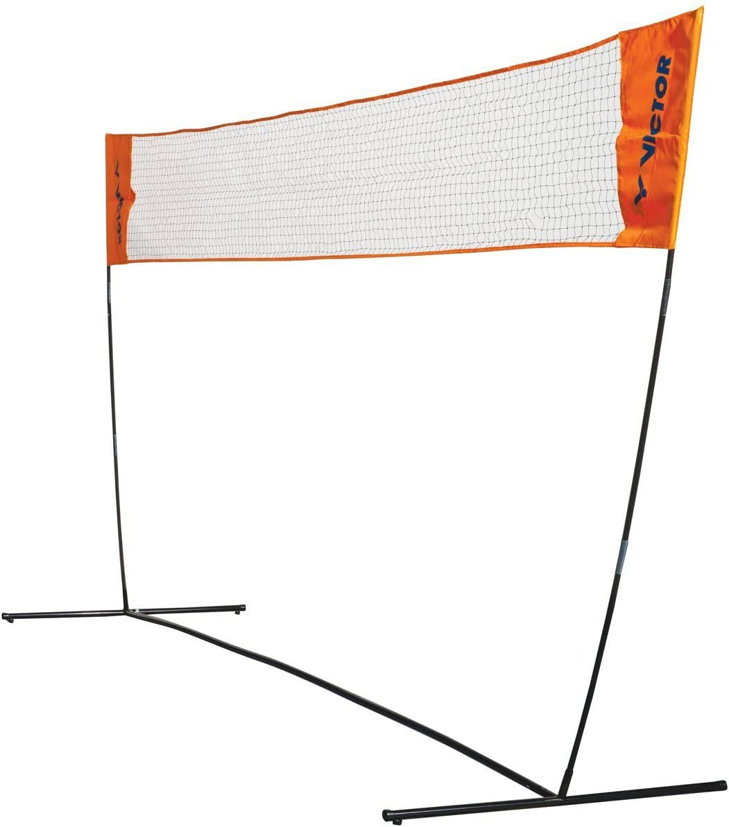 Victor Easy Net Badminton Tennis 3 5m Wide With Adjustable Height Orange Amazon Co Uk Sports Outdoors