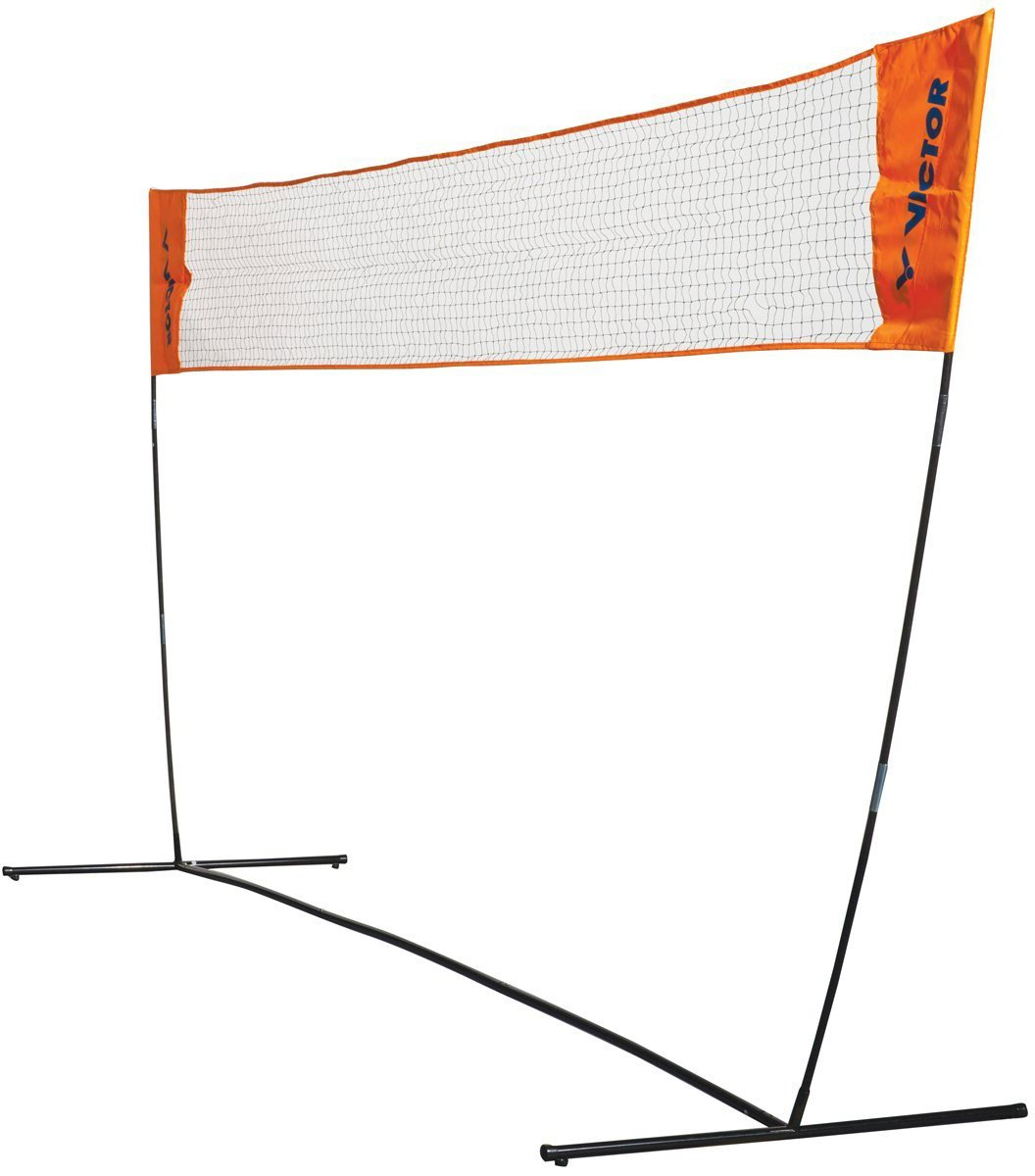 Victor Easy Net - Badminton & Tennis - 3.5m Wide with Adjustable Height - Blue 859/2/0